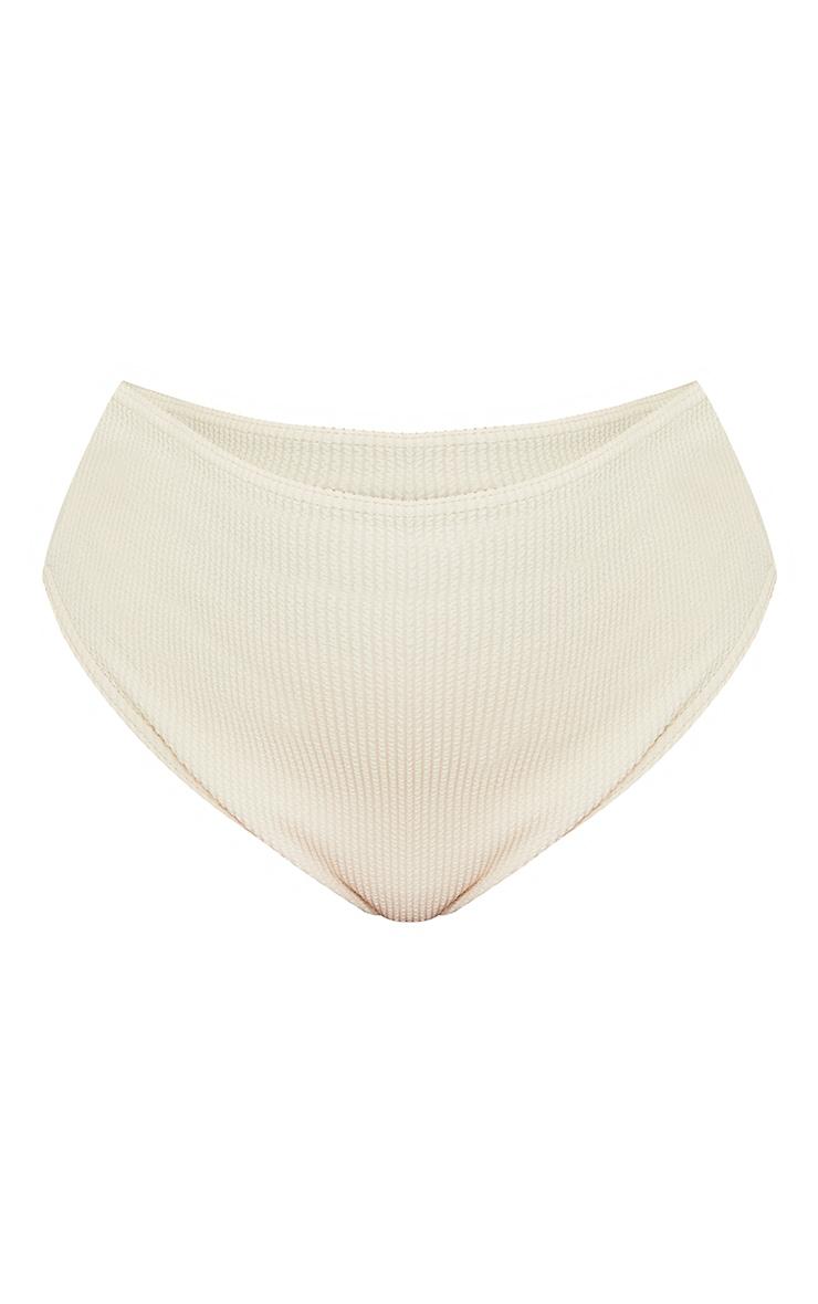 Plus Cream High Waist Crinkle Bikini Bottoms 5