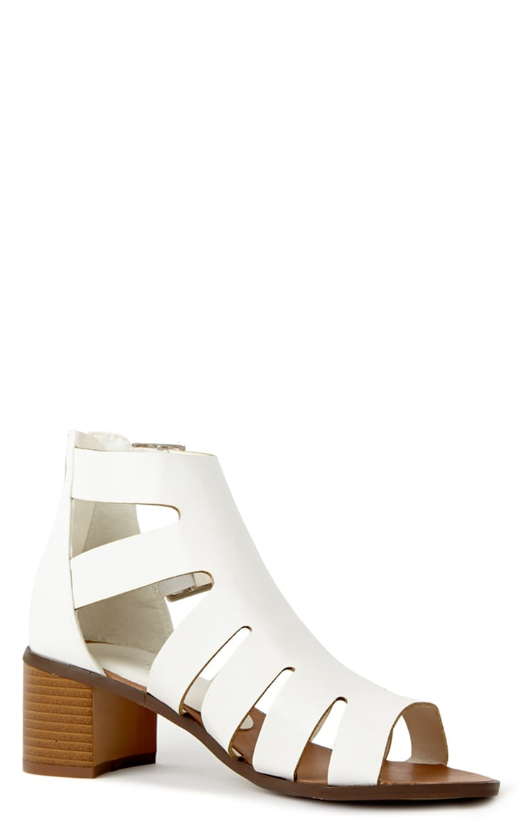 Juliana White Block Heel Sandal 3