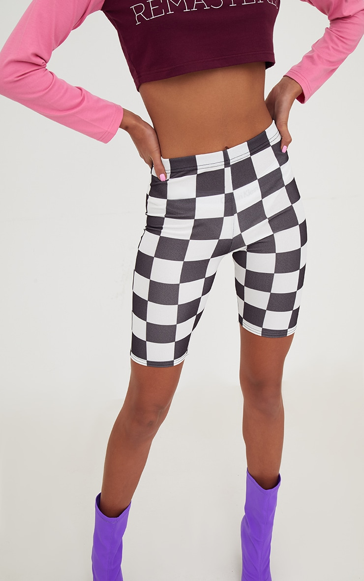 Monochrome Checkerboard Cycle Shorts  6