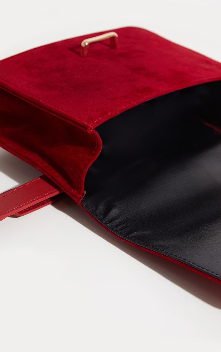 Burgundy Suedette Western Belted Bum Bag  4