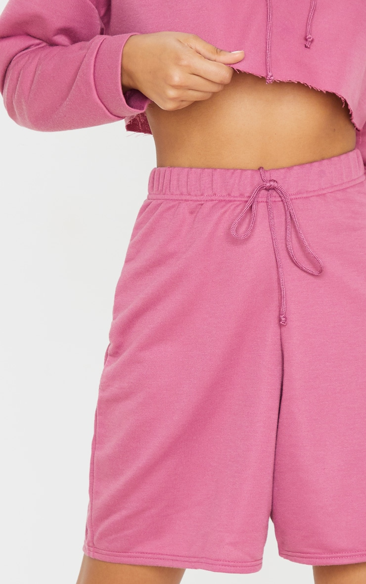 Washed Violet Longline Sweat Shorts 6