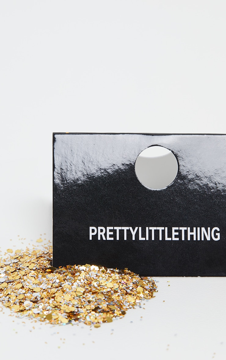 PRETTYLITTLETHING Chunky Gold Glitter 3