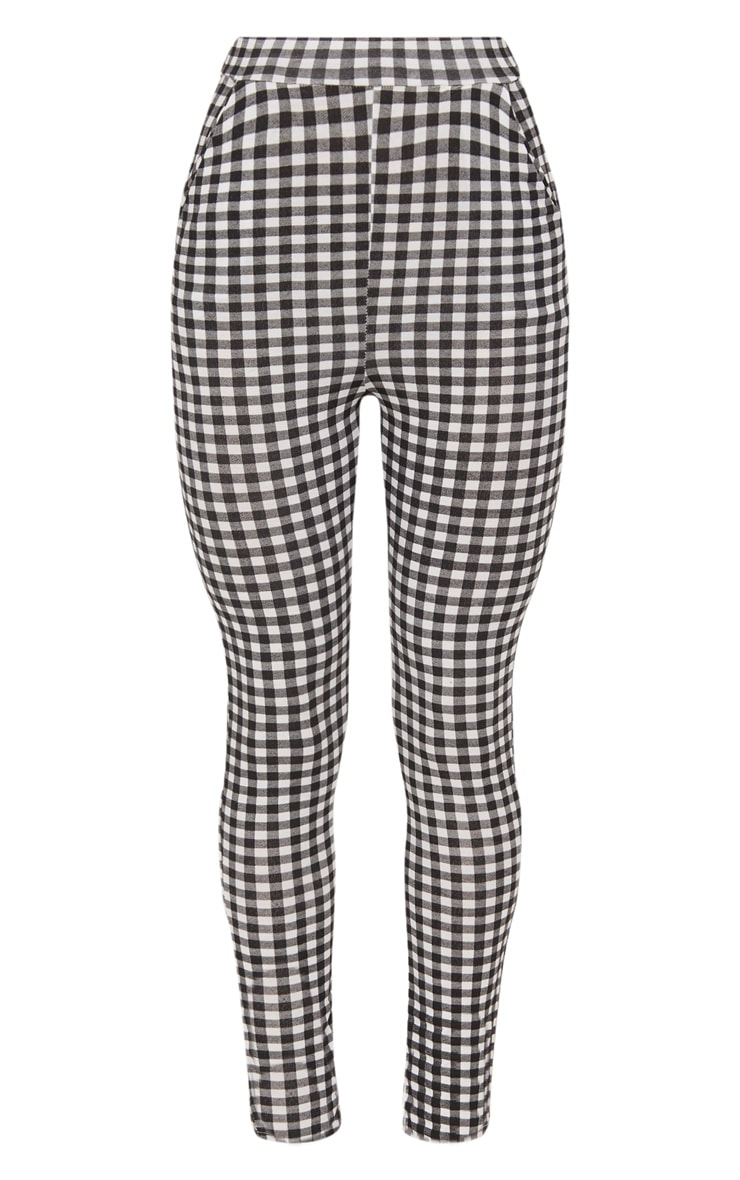 Black Gingham Skinny Pants 3