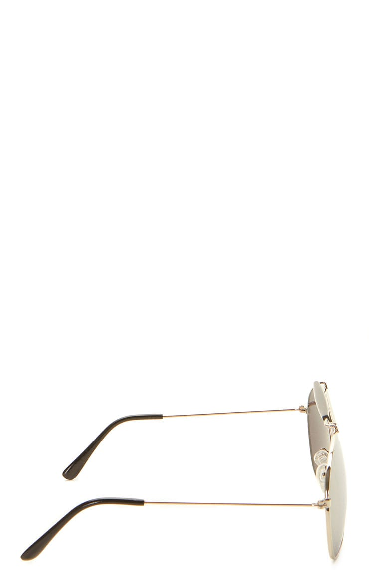 Lila Silver Frame Black Bar Aviators 7
