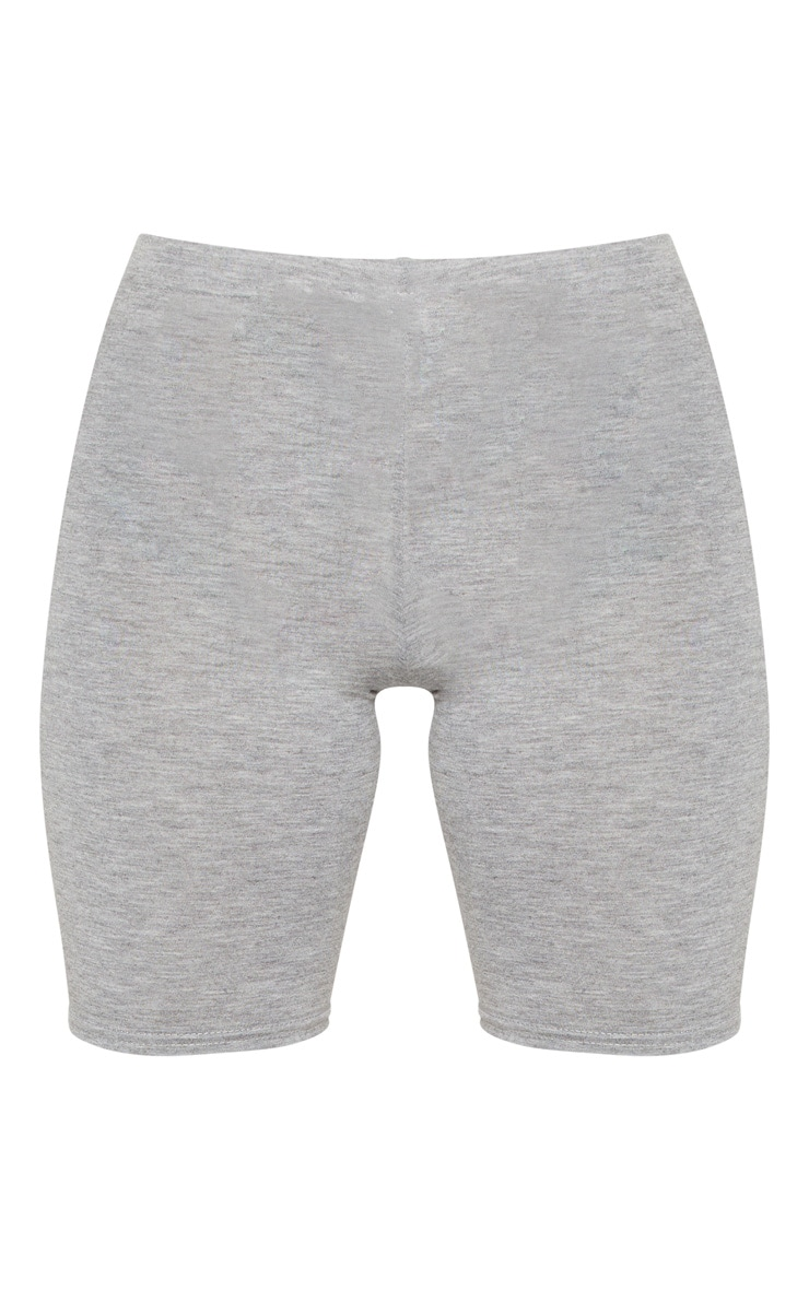 Petite Grey Marl Basic Bike Shorts 3