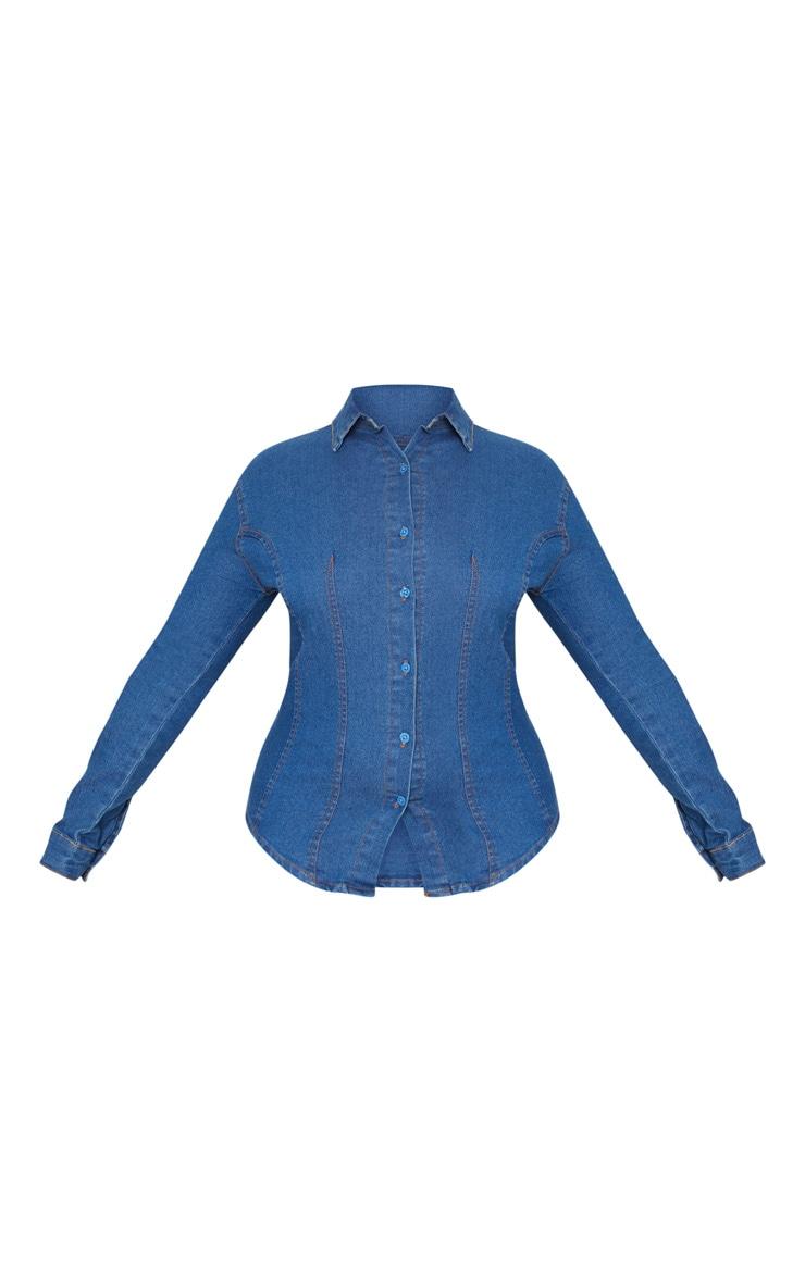 PLT Plus - Chemise en jean à délavage moyen 3