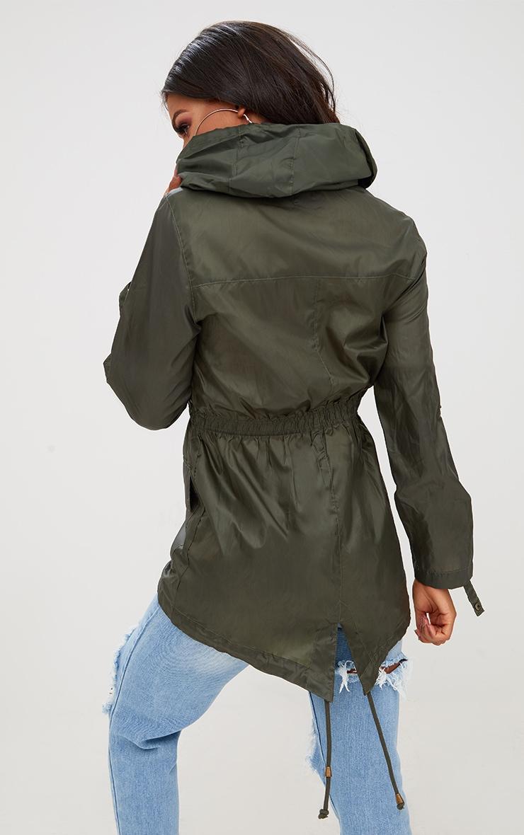 Khaki Waterproof Raincoat 2