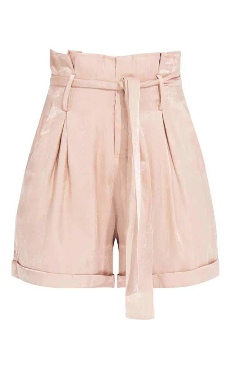 Mink Shimmer Paperbag Shorts 6