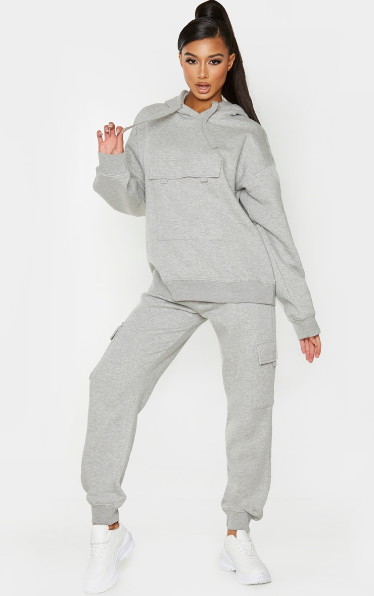 Grey Pocket Joggers 1