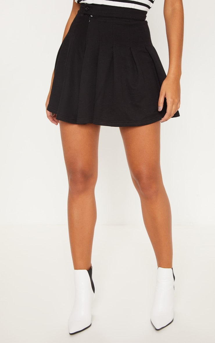 Black Sweat Tennis Skirt 2