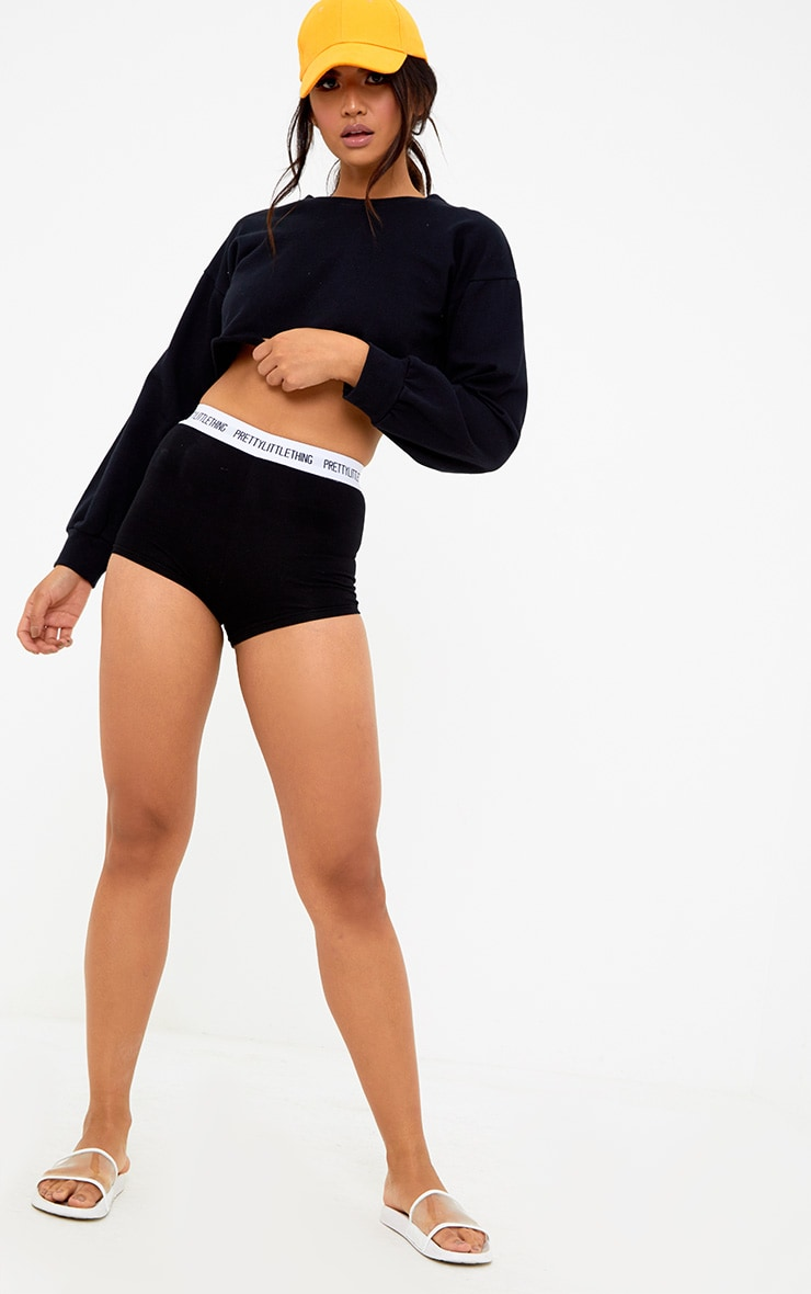PRETTYLITTLETHING Black Shorts 5