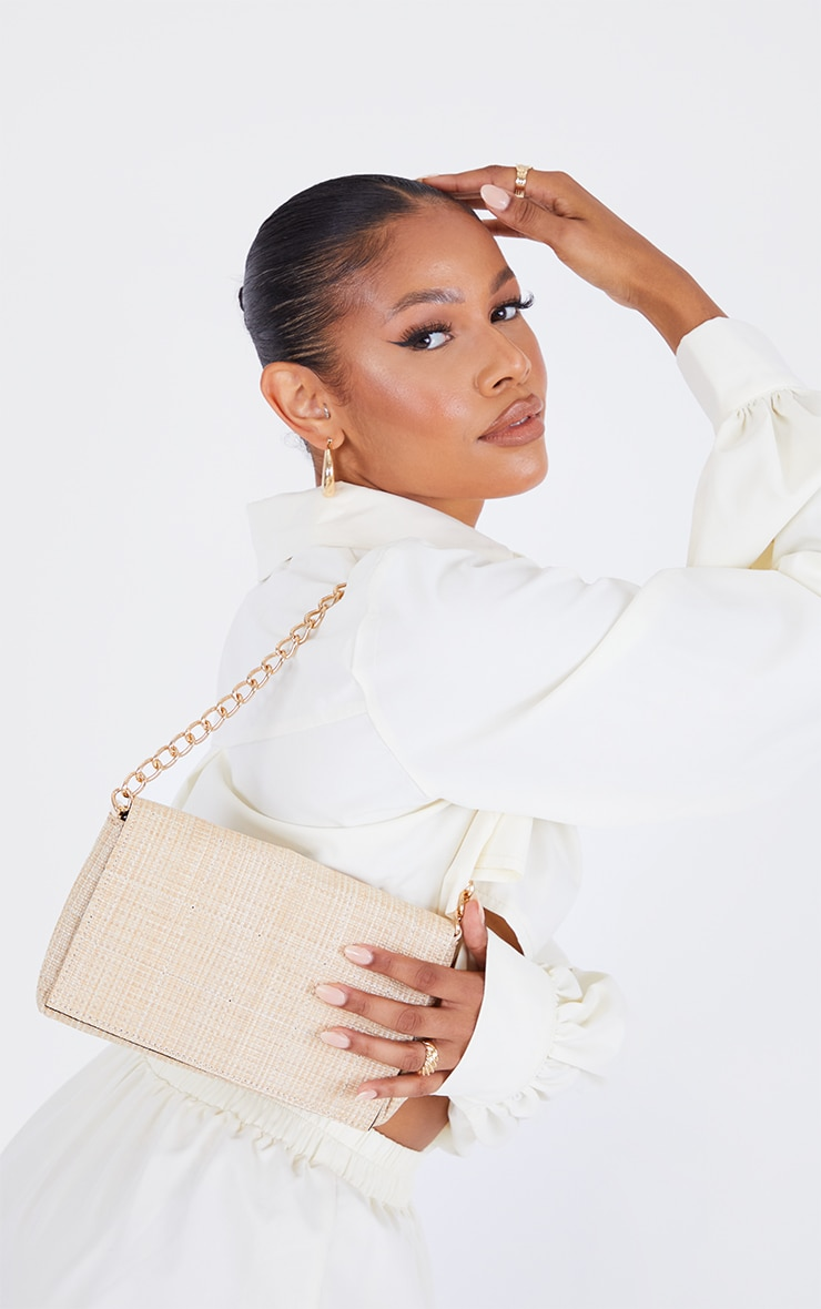 Sand Weave Quilted Cross Body Bag 1
