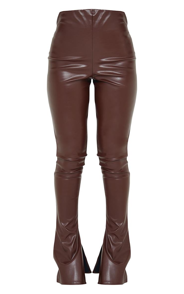 Chocolate Kick Flare Faux Leather Leggings 5