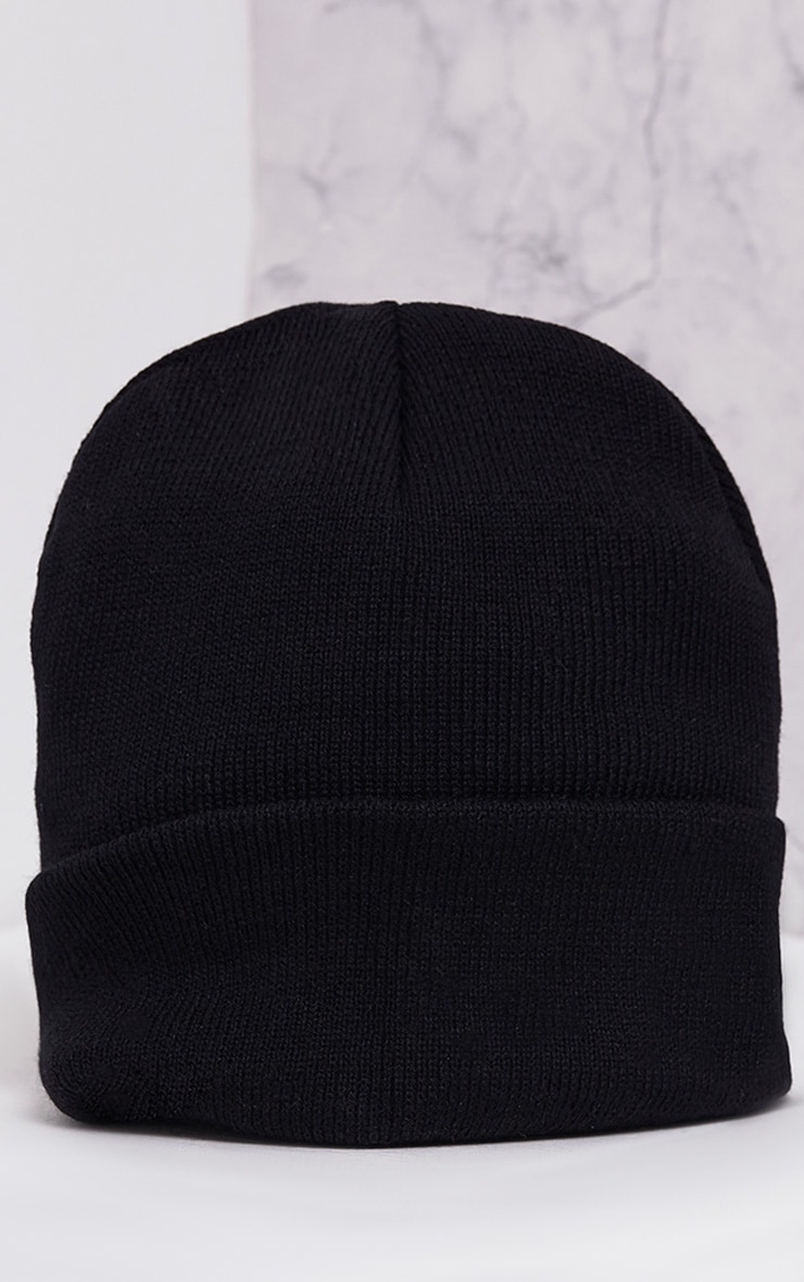 Pollee Black Beanie Hat Pretty Little Thing ljK1qjQT2J