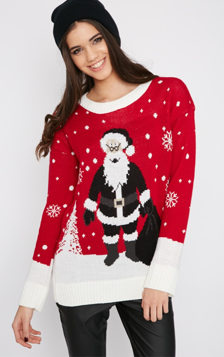 Reny Red Father Christmas Jumper 1