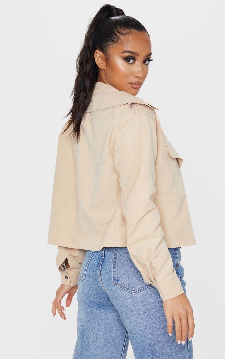 Petite Stone Cropped Trench Coat 2