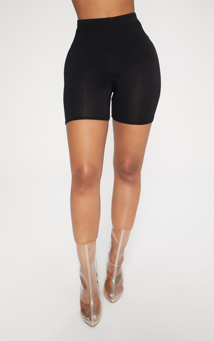Shape Black Jersey Bike Shorts 2