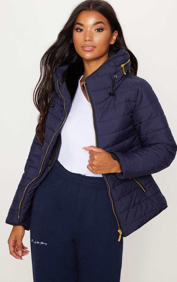 Mara Navy Puffer Jacket 4