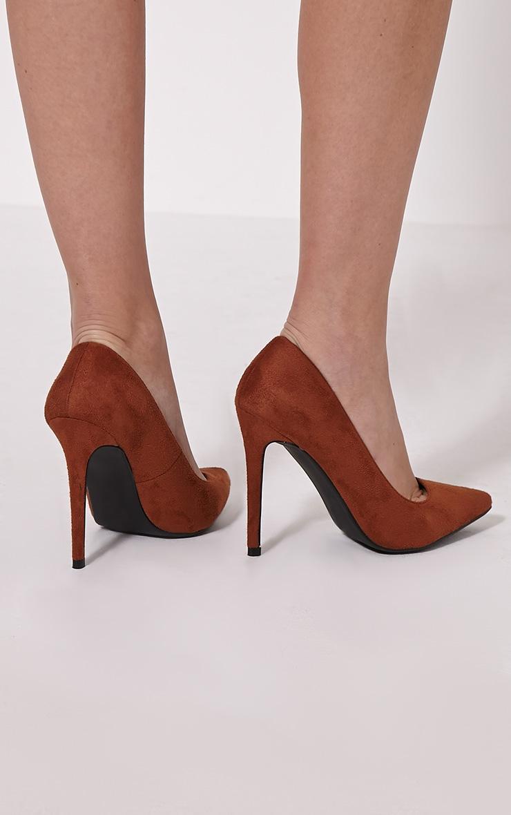 Tina Tan Faux Suede Court Shoes 2