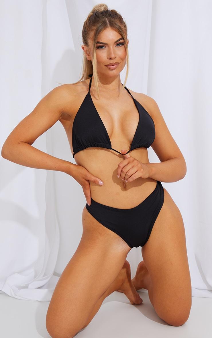 Black Mix & Match V Front Bikini Bottoms 3
