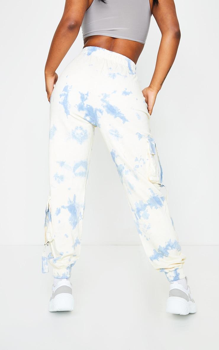 Blue Tie Dye Pocket Detail Joggers 3