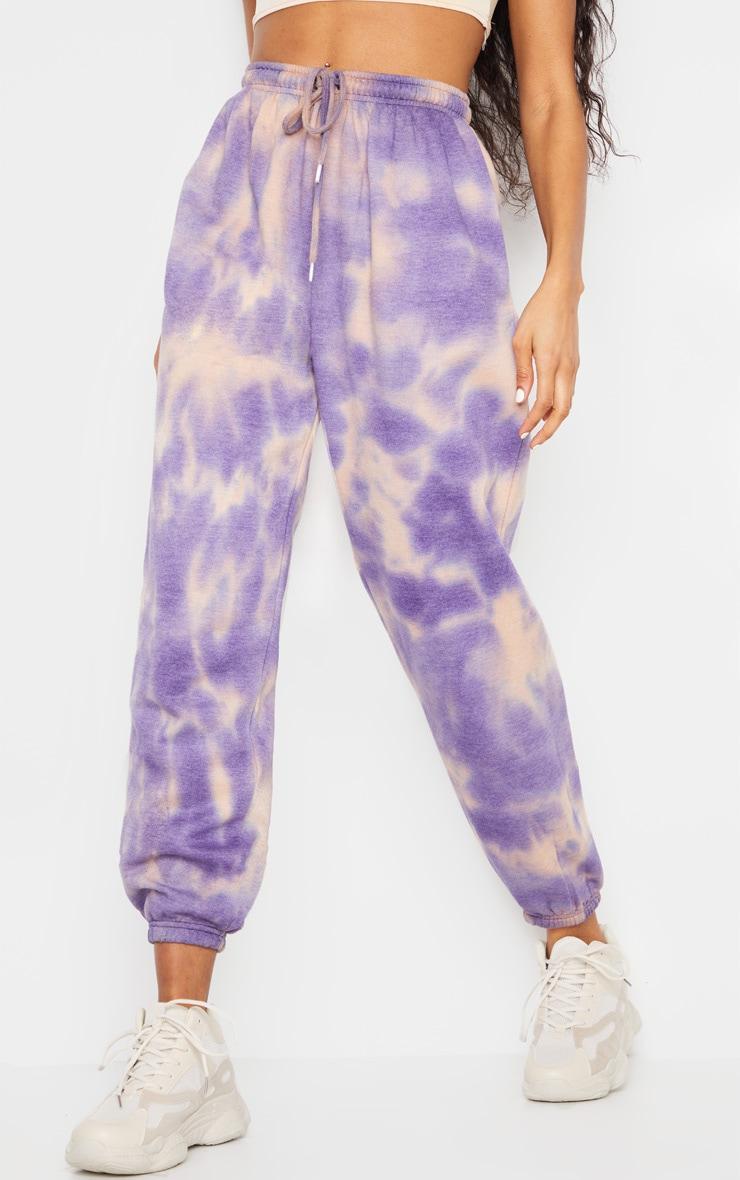 Pantalon de jogging violet javélisé casual 2