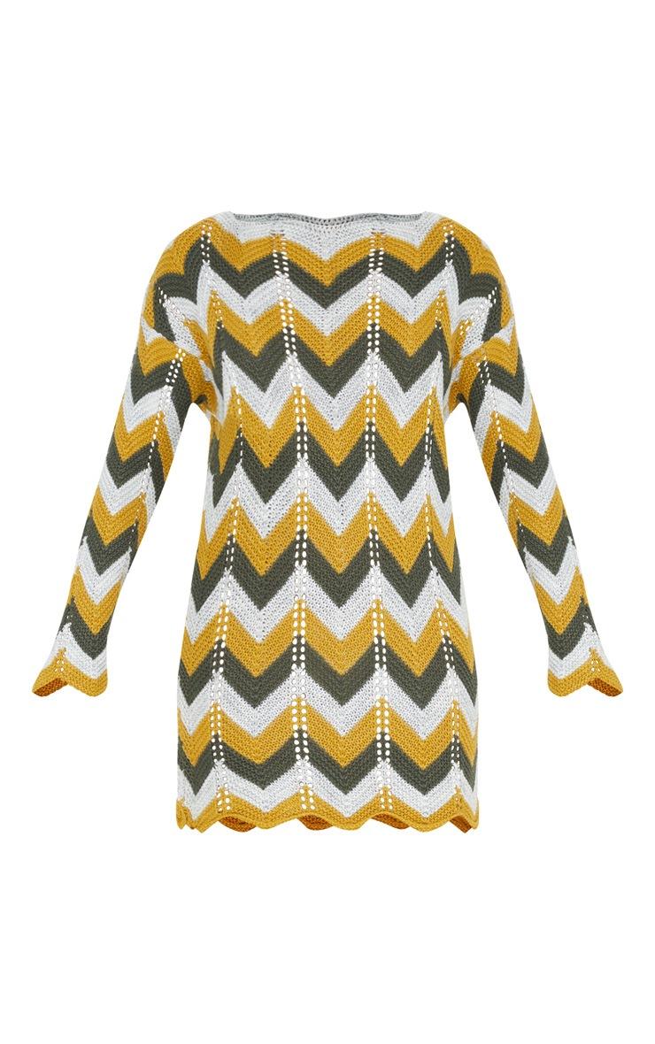 Multi Crochet Long Sleeve Jumper Dress 3