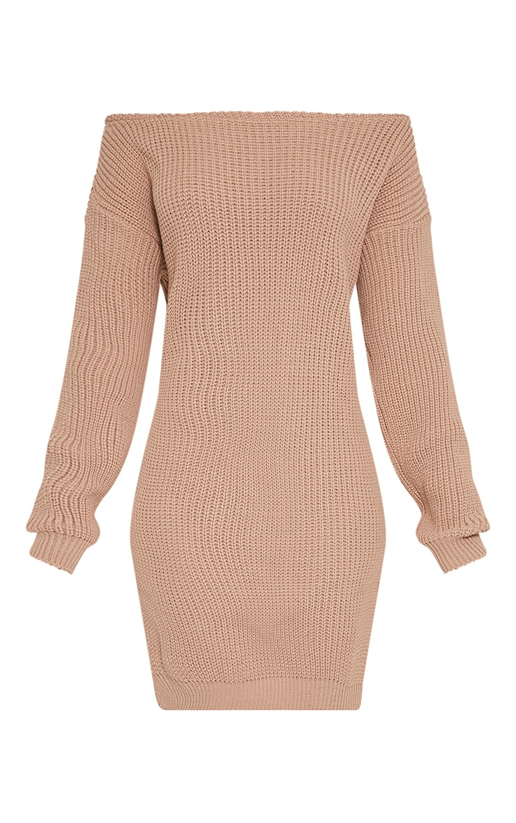 Larissa Stone Off The Shoulder Knitted Dress 3