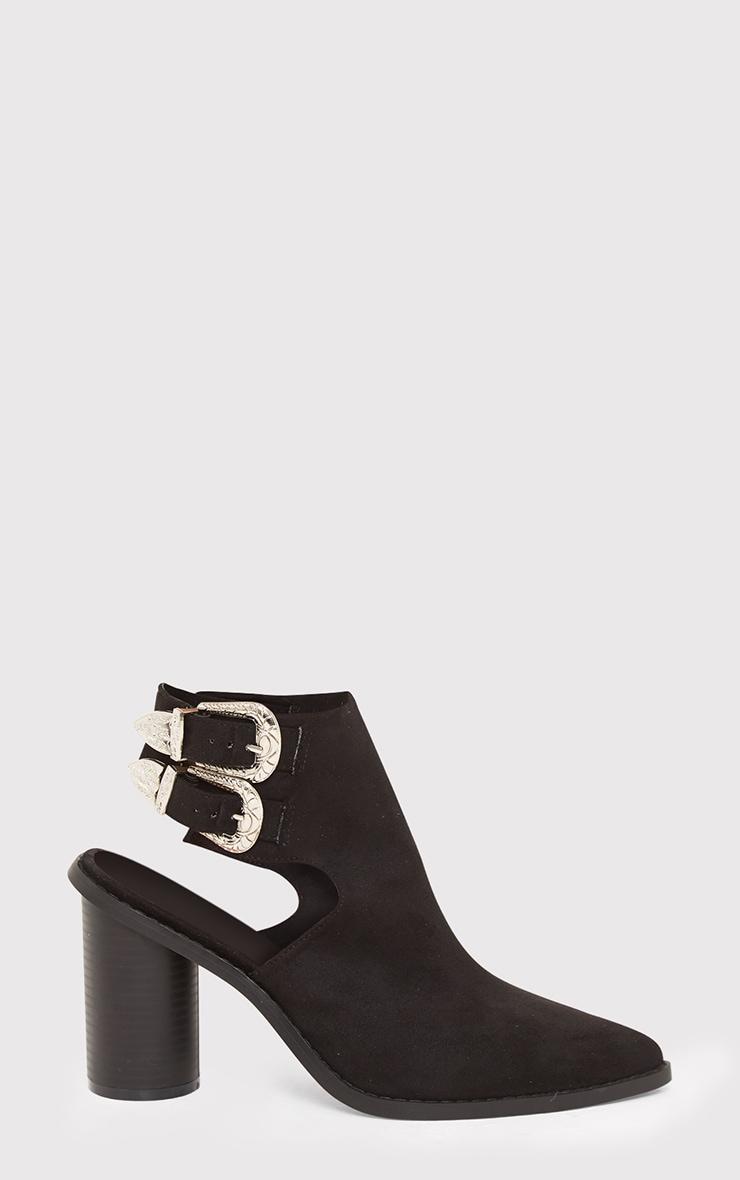 Bernice Black Open Heel Western Boots 2