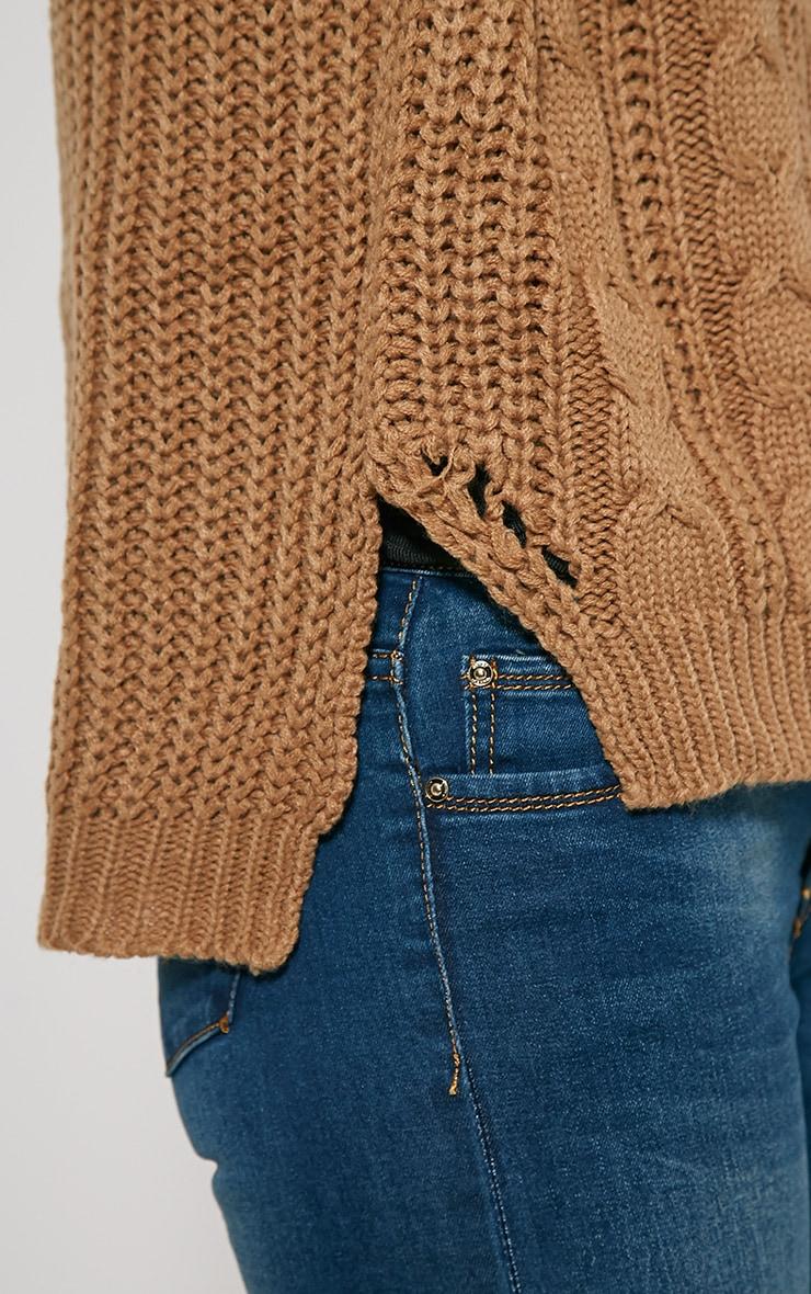 Jada Camel Knitted Jumper 5