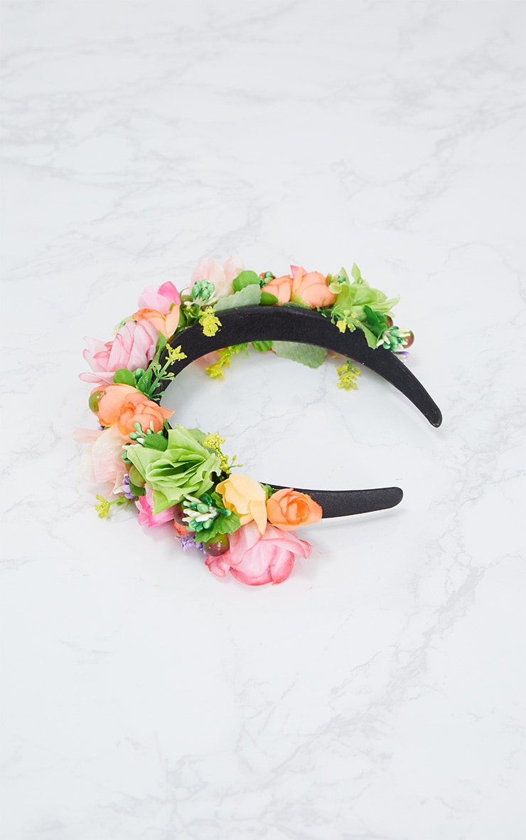 Summer Floral Statement Headband 4