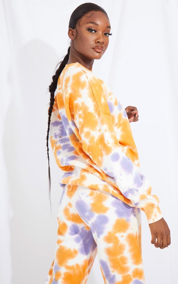 Tall Orange Oversized Tie Dye Sweater 2