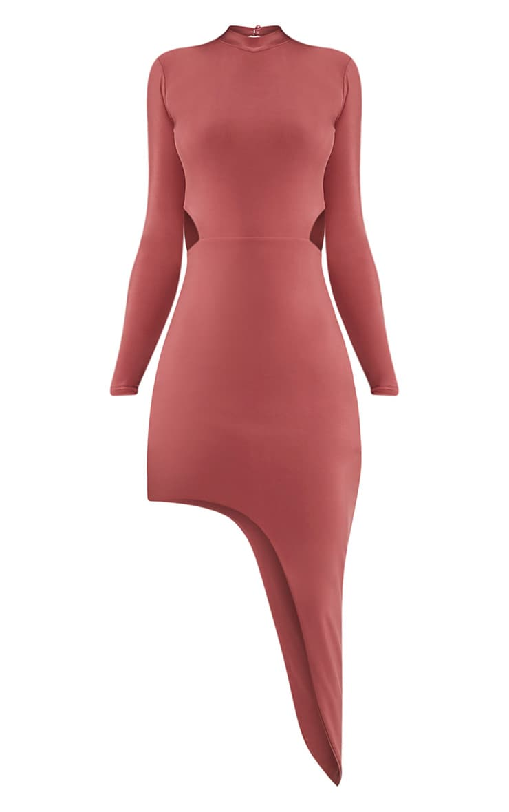 Avia Rose Cut Out Asymmetric Midi Dress 3