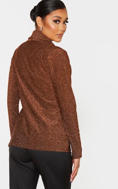 Rust Glitter Tie Front Blazer