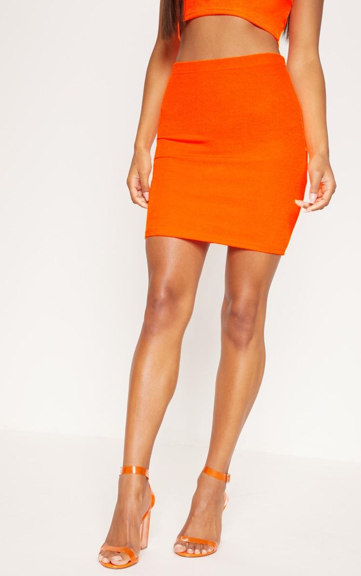 Neon Orange Mini Skirt 2