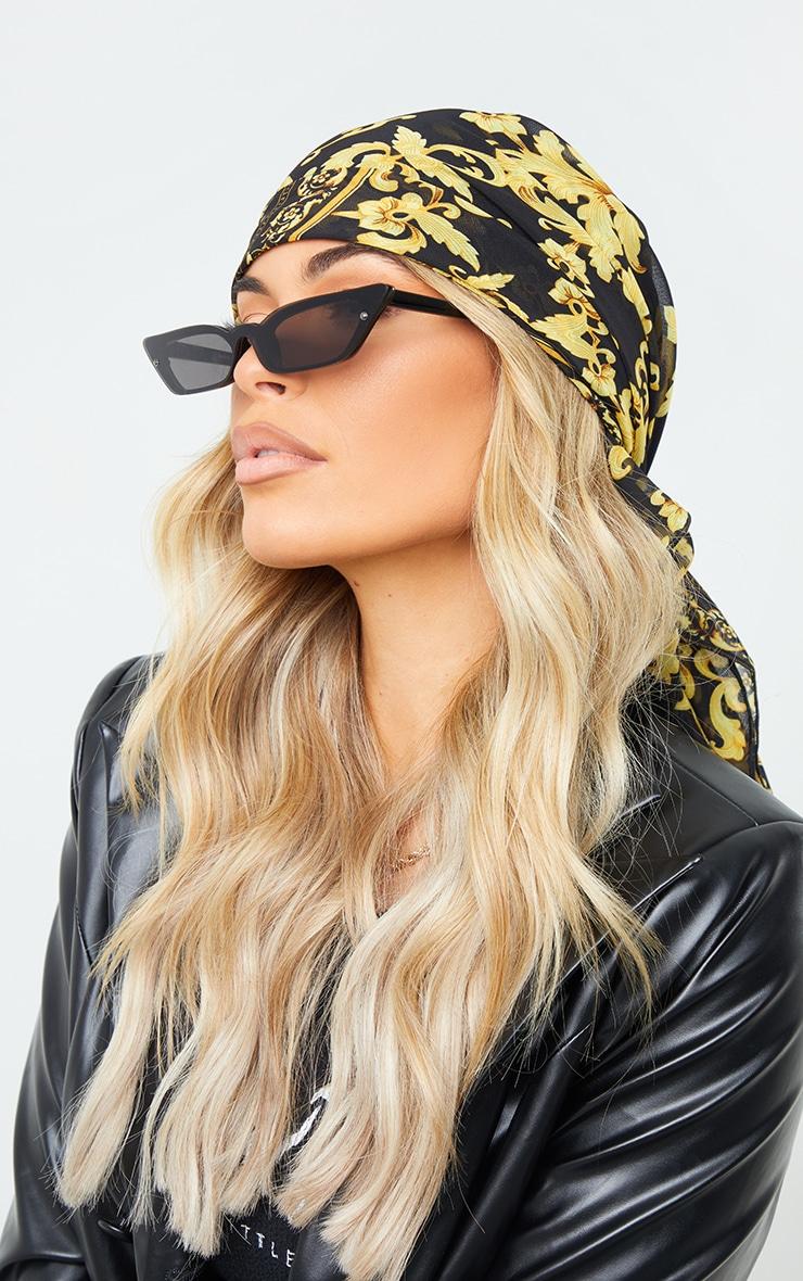 Gold Chain Print Head Scarf 1