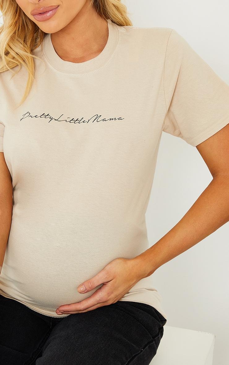 PRETTYLITTLETHING Maternity Stone T Shirt 4