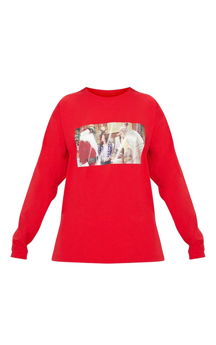 Red Holiday Armadillo Printed Long Sleeve T Shirt 3