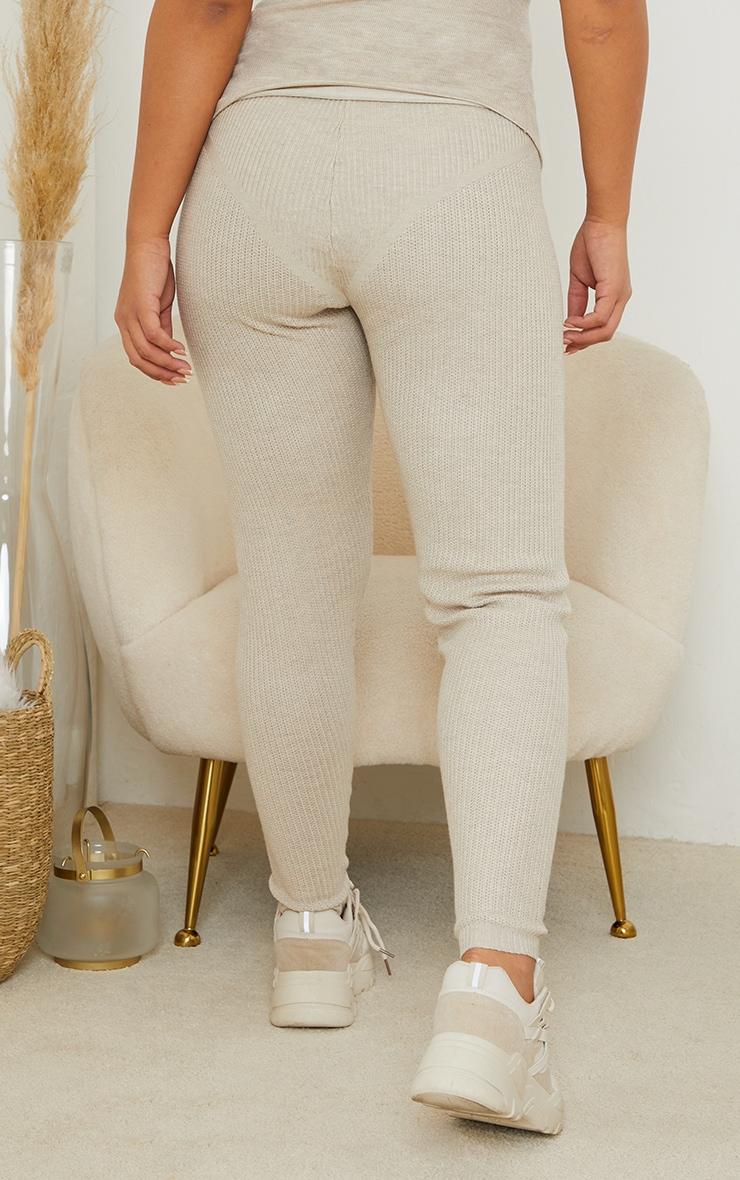 Maternity Stone Bump Shaping Knitted Wide Rib Leggings 3