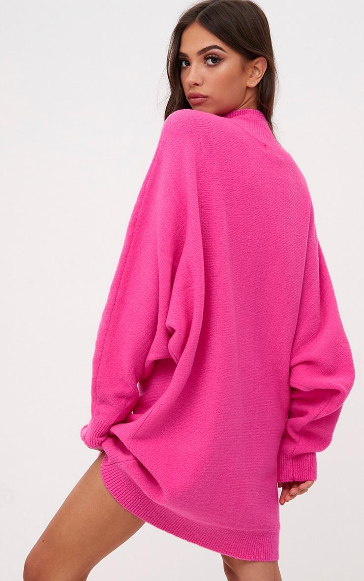 Pink Oversized Jumper Dress 2