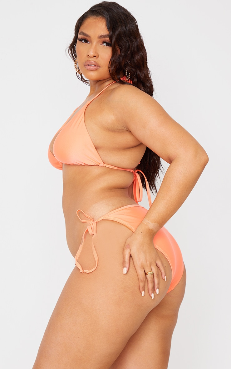 Recycled Plus Coral Mix & Match Tie Side Bikini Bottoms 2