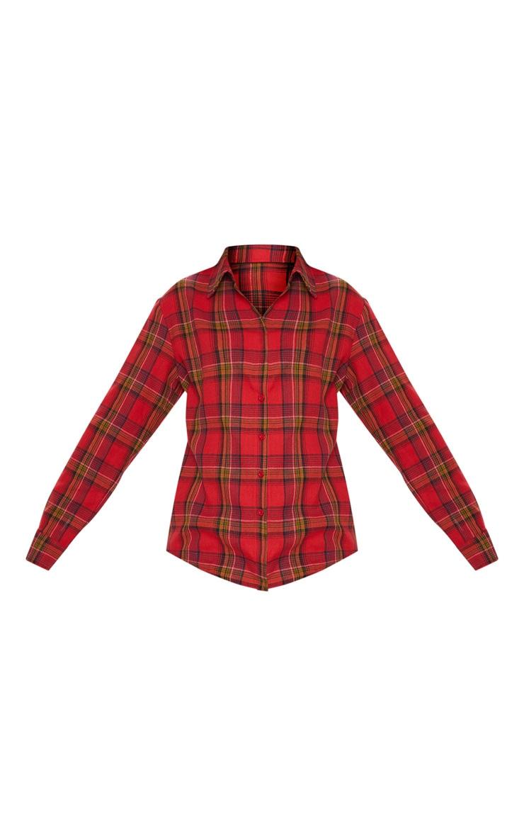 Red Check Print Shirt 3
