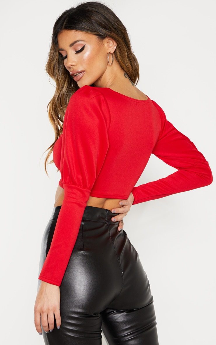 Red Hook And Eye Long Sleeve Crop Top 2