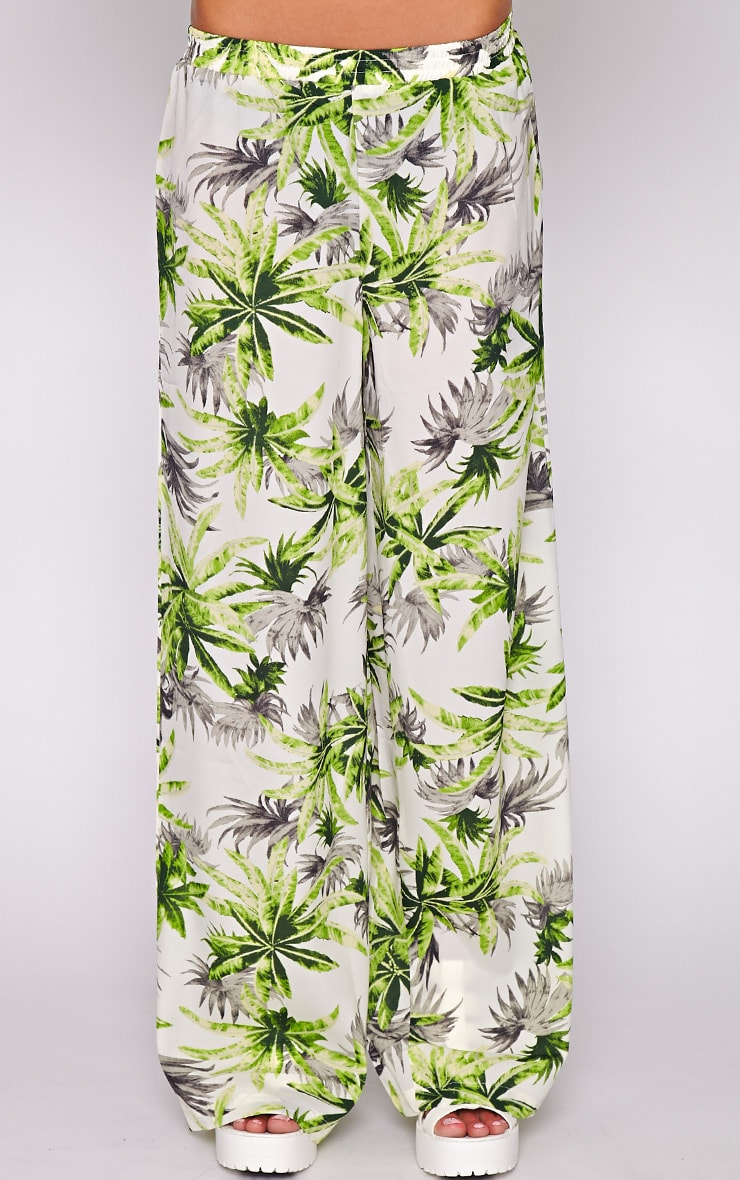 Jocelyn Green Leaf Print Trouser -L 2