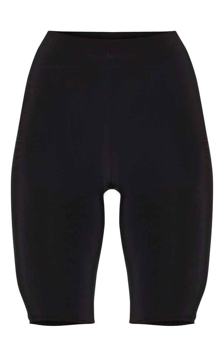 Black Slinky Longline Cycle Short 6