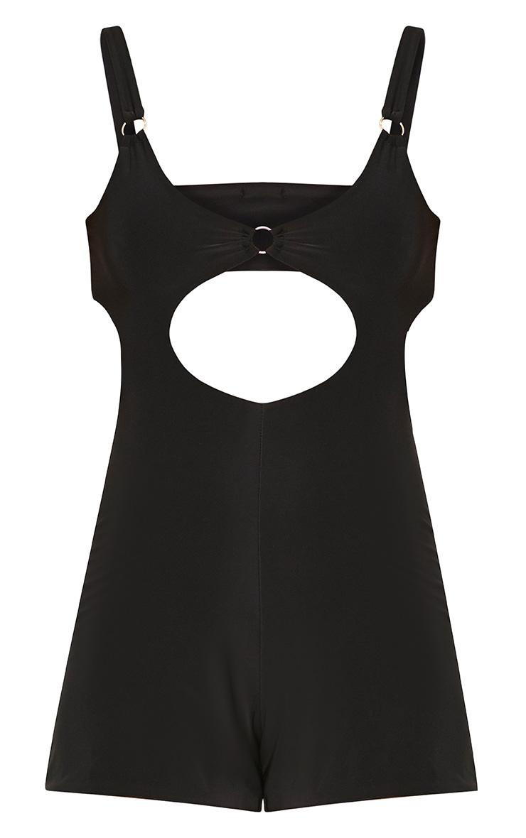 Black O Ring Top Slinky Playsuit  3