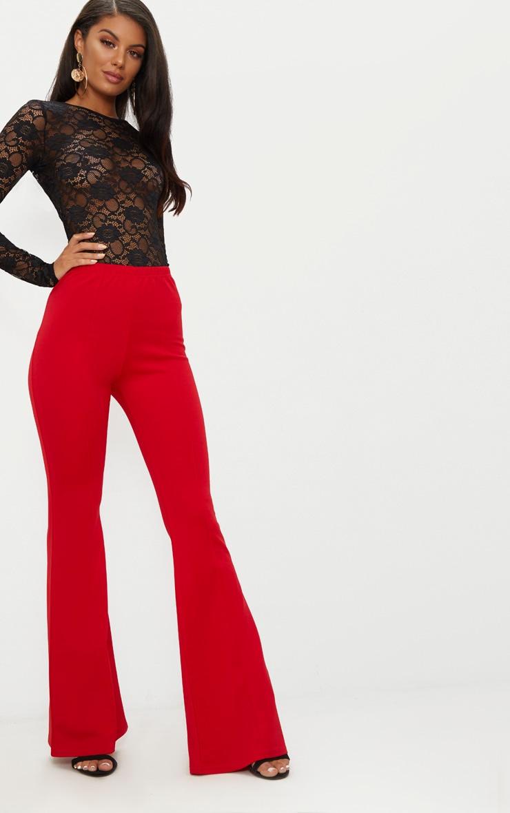 Black Lace Long Sleeve Backless Thong Bodysuit 5