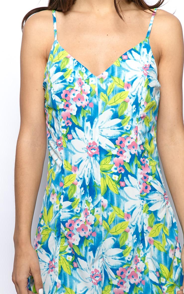 Imogen Blue Floral Chiffon Playsuit  5