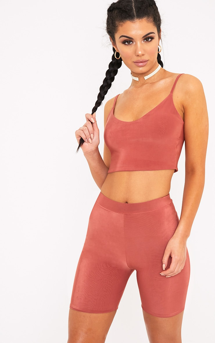 Bella Spice Slinky High Waisted Cycle Shorts 1