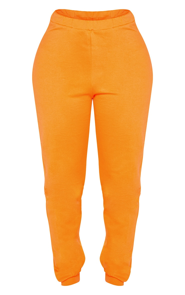 Shape Bright Orange Elastic Bottom Joggers 3